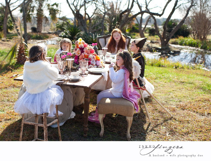 Queen of Hearts Styled Tea Party Photo Shoot - kids 2