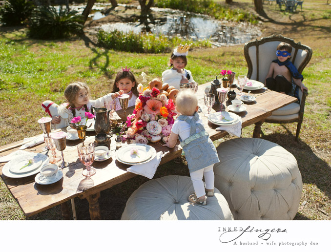 Queen of Hearts Styled Tea Party Photo Shoot - kids 4