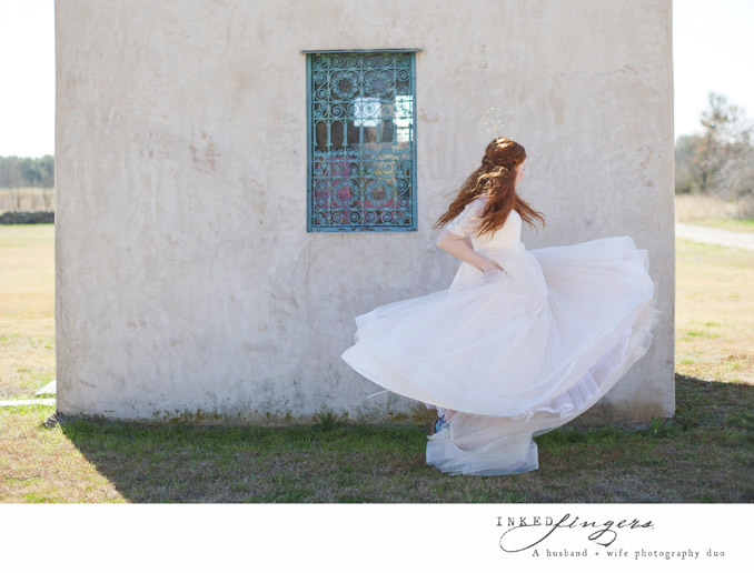 Queen of Hearts Styled Tea Party Photo Shoot - tulle wedding dress - bride