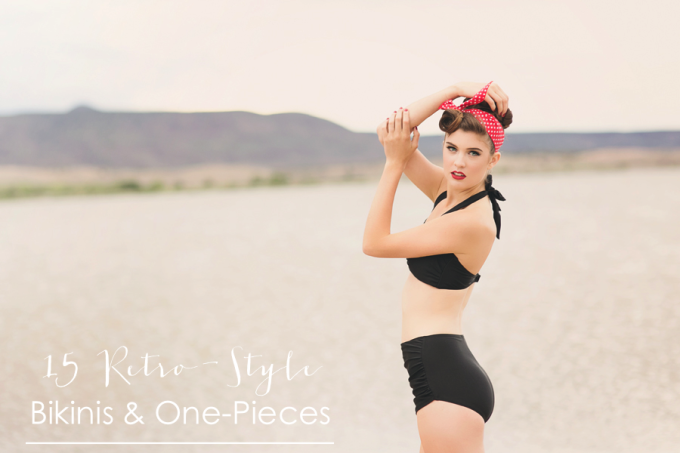 Retro Swim Black Bikini - Liz Anne Photography