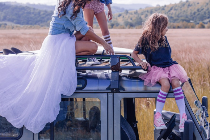 Steele Family tulle travel gypsy converse safari