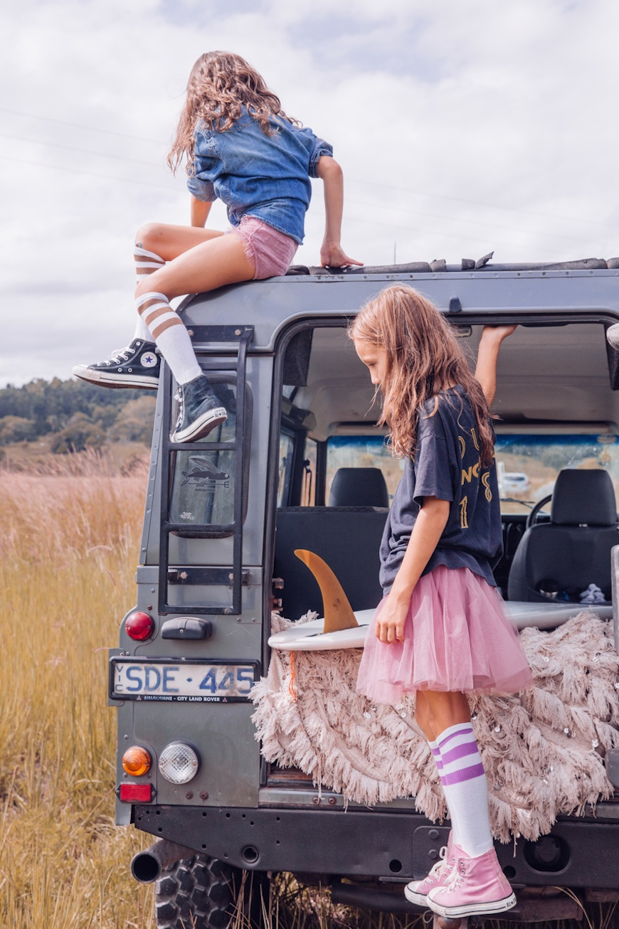 Steele Family tulle travel gypsy converse