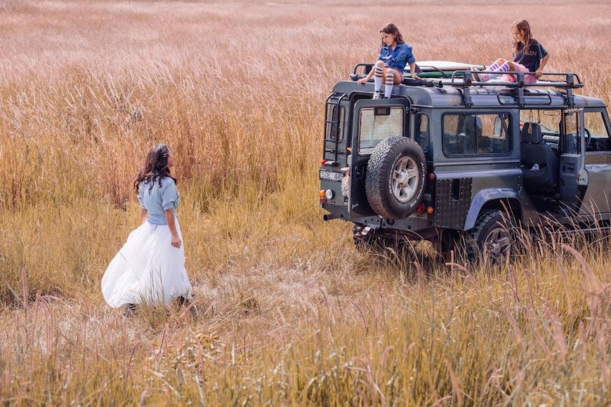 Steele Family tulle travel gypsy safari