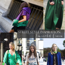 Street Style Inspiration Fashion Week Emerald Green - glitterinc.com