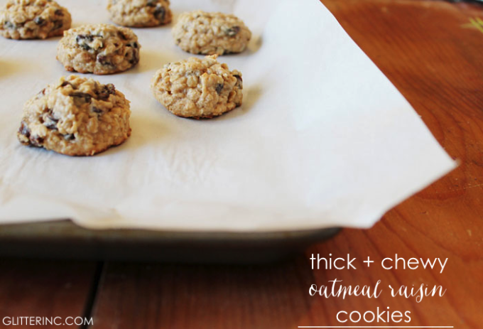Thick-+-Chewy-Lower-Sugar-Oatmeal-Raisin-Cookies-{Recipe}-4---glitterinc.com