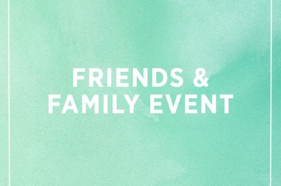 shopbop friends + family event