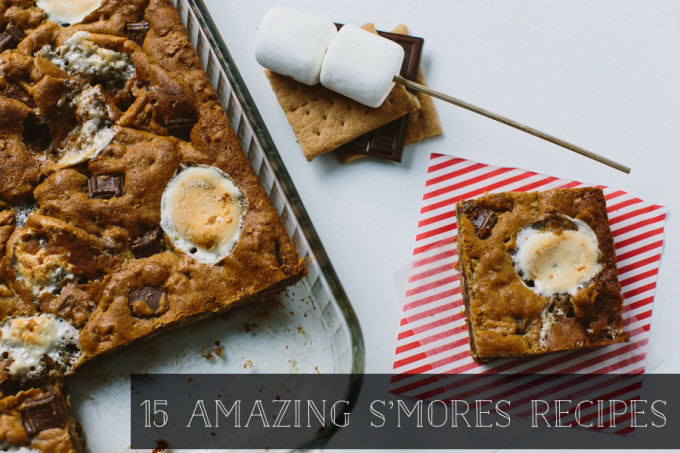 15 Summer S'mores Recipes - Chunky S'mores Bars