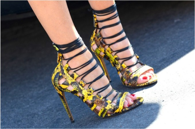 Aquazzura -snakeskin-lace-up-yellow-high-heeled-sandals-summer
