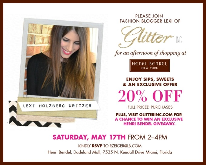 Final Evite - Glitter Inc-Henri-Bendel-Miami