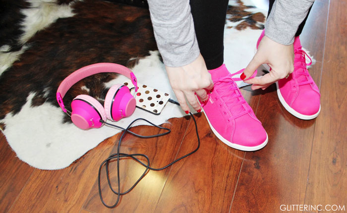 Lexi-Reebok-Skyscapes-Pink-Sneakers---exercise---cowhide-rug---glitterinc.com