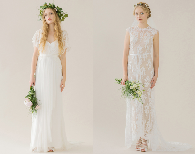 Rue de Seine 2014 'Young Love' Collection wedding dress - lace and flowers - glitterinc.com