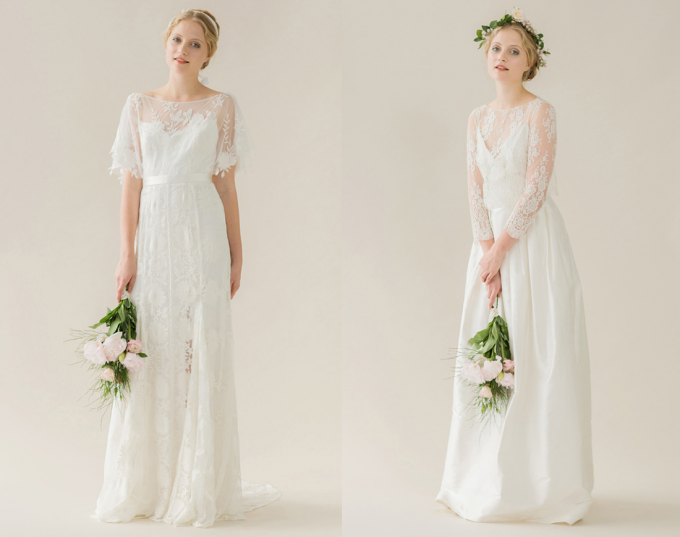 Rue de Seine 2014 'Young Love' Collection wedding dress - lace - vintage - flowers - glitterinc.com