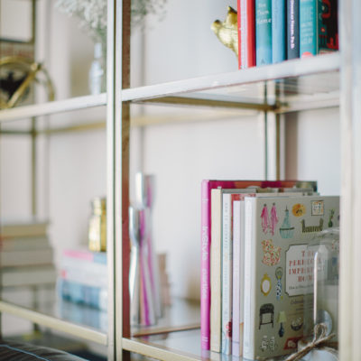 DIY Gold Ikea Book Shelves