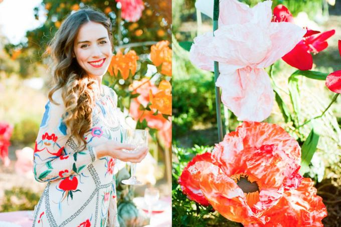 Temperly of London Bright Flower Wedding Dress + Paper Flowers - dress of the week