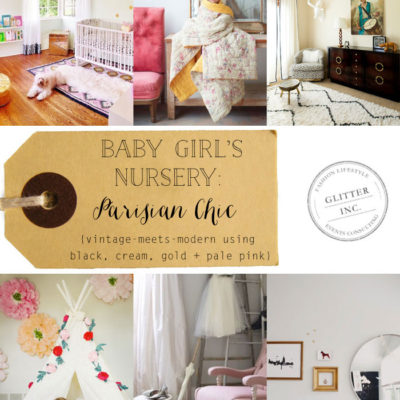 Baby Girl's Nursery Inspiration: Parisian Chic