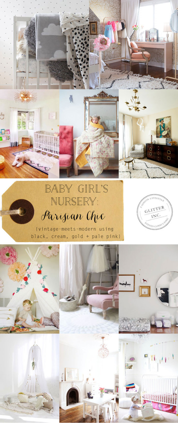 baby-girl-nursery-paris-parisian-chic-black-cream-gold-souk-rug-pale-pink---inspiration---glitterinc.com