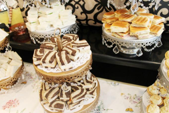 baby girl shower tea party - food - glitterinc.com