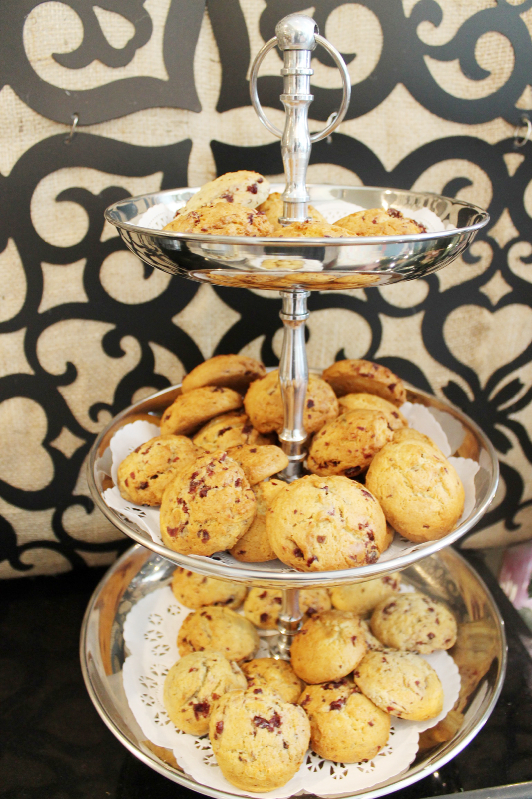 baby girl shower tea party - scones - glitterinc.com