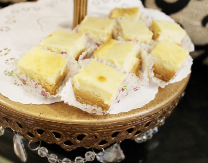 baby girl tea party shower cheesecake - glitterinc.com