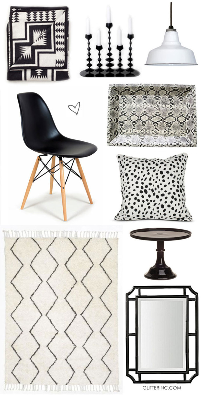 black-and-white-home-decor-design---glitterinc.com