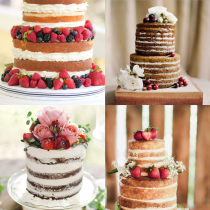 naked wedding cakes - glitterinc.com