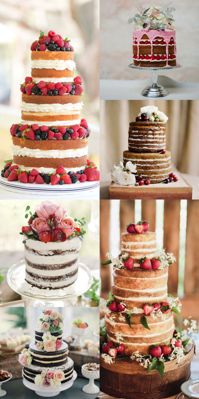 Naked Wedding Cakes. Click through for the details. | glitterinc.com | @glitterinc