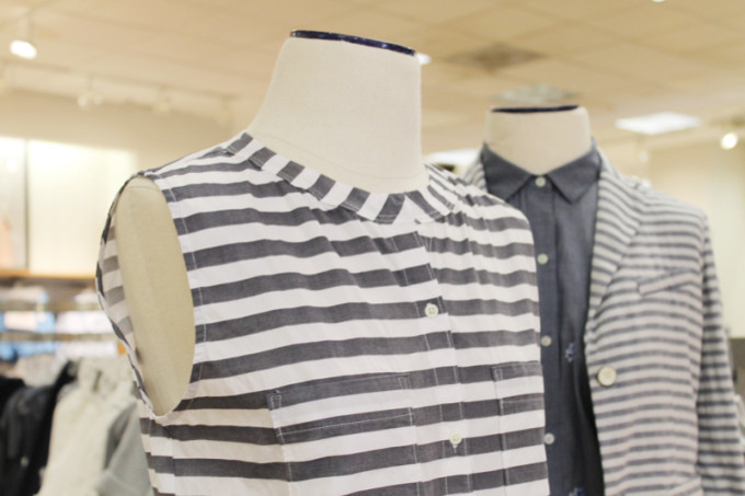 Gap Summer Lincoln Road Re-opening - chambray denim stripes - glitterinc.com