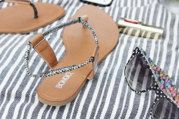 Summer Picnic - pregnant maternity - Bongo sandals - Sears Style - glitterinc.com