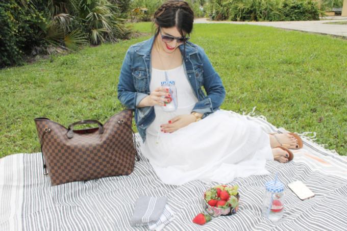 Summer Picnic - pregnant maternity - Sears Style 3 - glitterinc.com