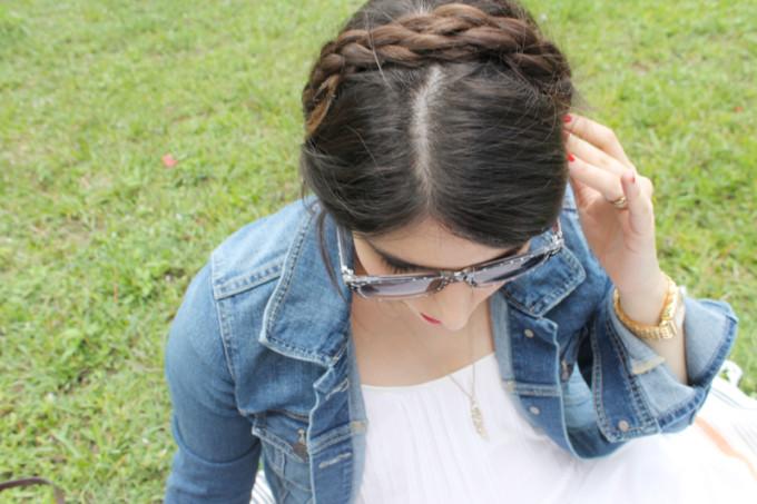 Summer Picnic - pregnant maternity - braids - Sears Style - glitterinc.com