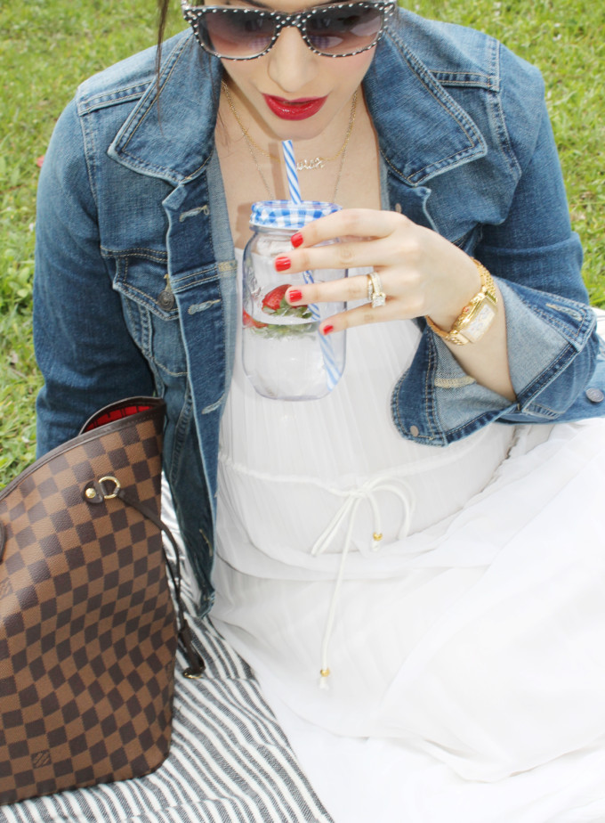 Summer Picnic - pregnant maternity - lexi - Sears Style - glitterinc.com