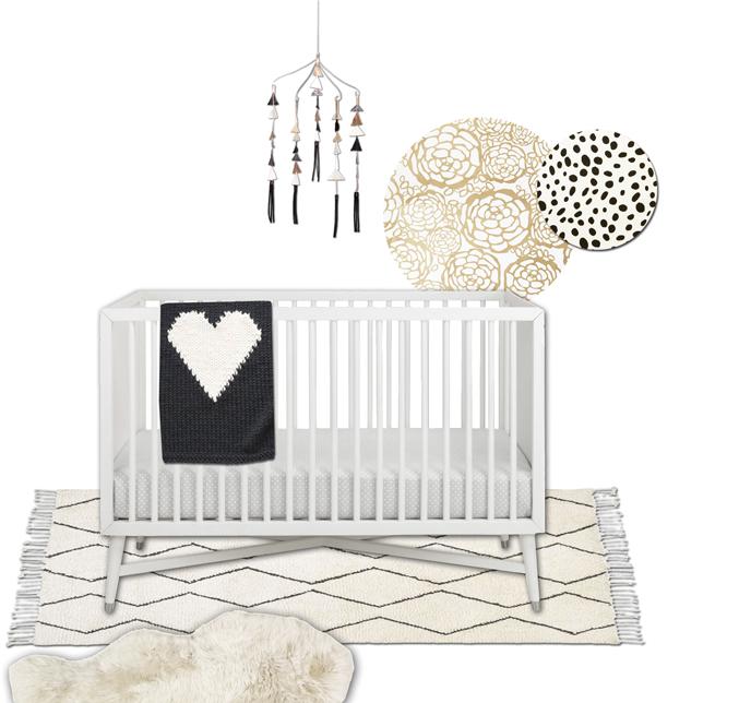chic paris baby girl nursery vignette 3 - glitterinc.com