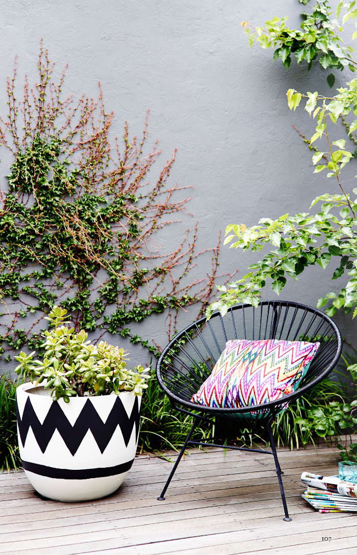 interiors - bohemian patio - lucy fenton - adore magazine