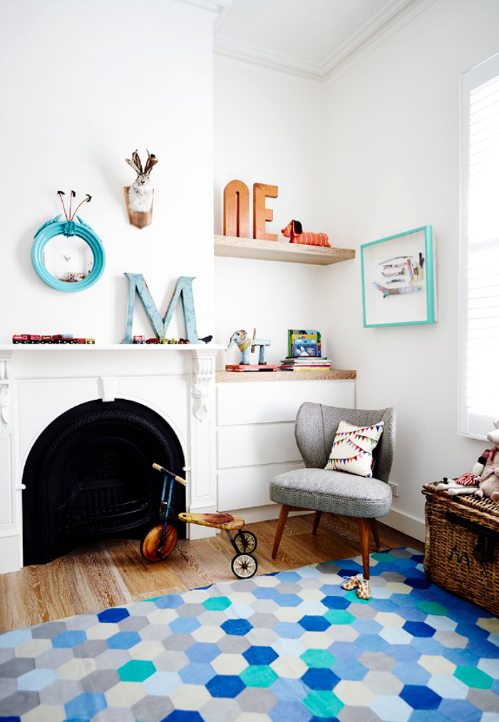 interiors - colorful bohemian nursery playroom - lucy fenton - adore magazine