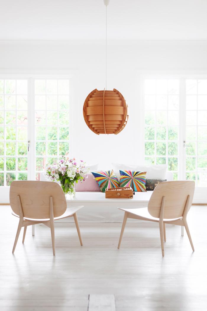 light bright Sweden home via Elle Decoration - living room