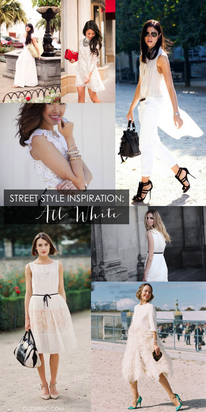 street style inspiration - all white everything fashion - glitterinc.com