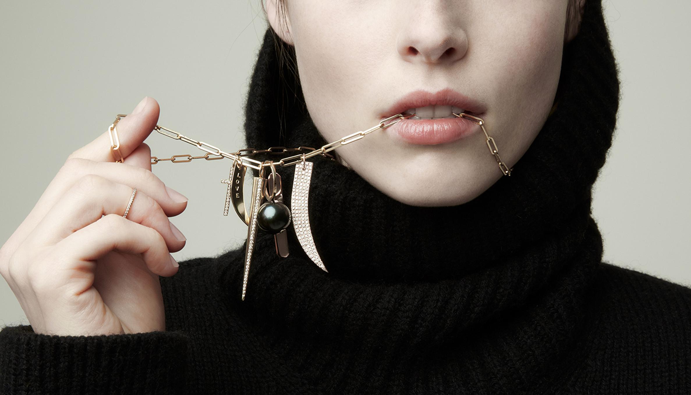 Jennifer Fisher Charm Necklace - glitterinc.com