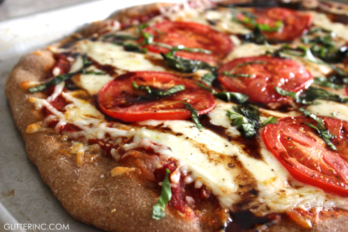 Easy Caprese Pizza With Balsamic Glaze Recipe Glitter Inc