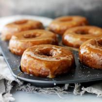 Salted Caramel-Glazed Pumpkin Donuts via diethood