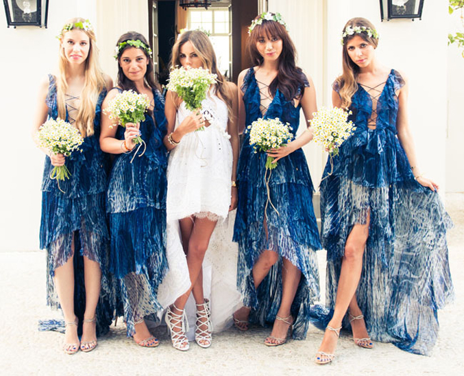 capri-wedding-short-dress-blue-bridesmaids