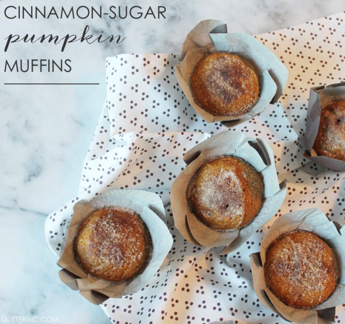 Cinnamon-Sugar Pumpkin Muffins - FALL - Recipe - Starbucks Coffee 4 - glitterinc.com