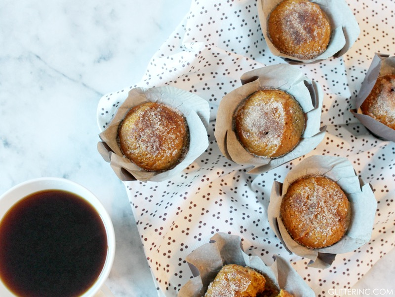 Cinnamon-Sugar Pumpkin Muffins - Recipe - Starbucks Coffee Cup - glitterinc.com
