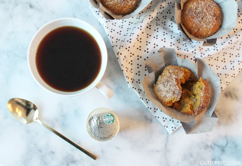 Cinnamon-Sugar Pumpkin Muffins - Recipe - Starbucks Coffee - glitterinc.com