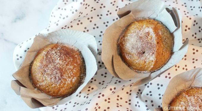 Cinnamon-Sugar Pumpkin Muffins - Recipe - glitterinc.com
