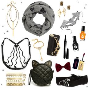 Halloween-Chic-Style-Fashion-Accessories---skulls-bats-cat---glitterinc.com