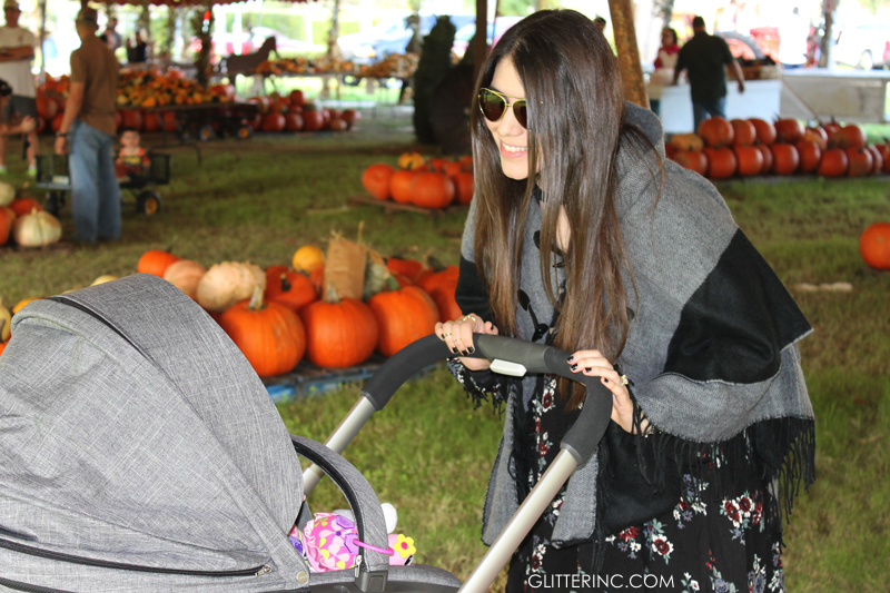 Lexi-Sears-Style-Fall-Blanket-Poncho-Cape-and-dress---stroller---pumpkin-patch---glitterinc.com