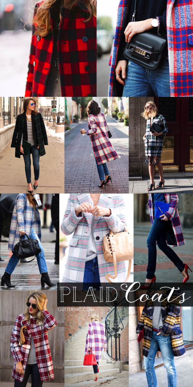 Plaid Statement Coats - Fall Winter - glitterinc.com