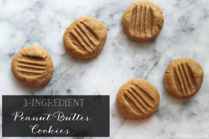 three-ingredient-peanut-butter-cookies---glitterinc.com