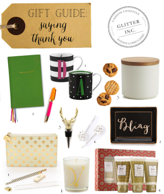 gift guide thank you gifts thanks - glitterinc.com