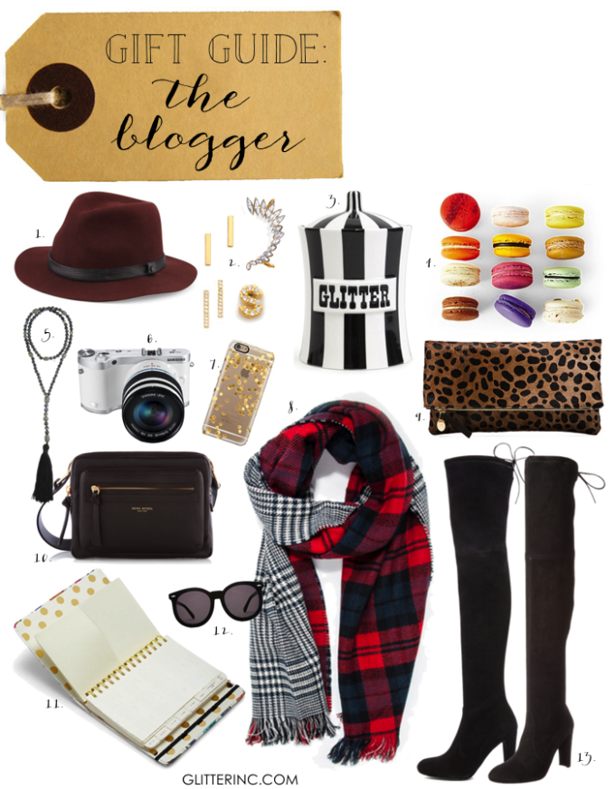 gift guide the blogger blogging fashion - glitterinc.com